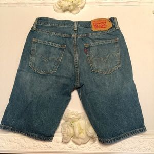Levi's 501 shorts high rise mom jeans